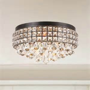 flush mount chandelier iron shade flush mount chandelier