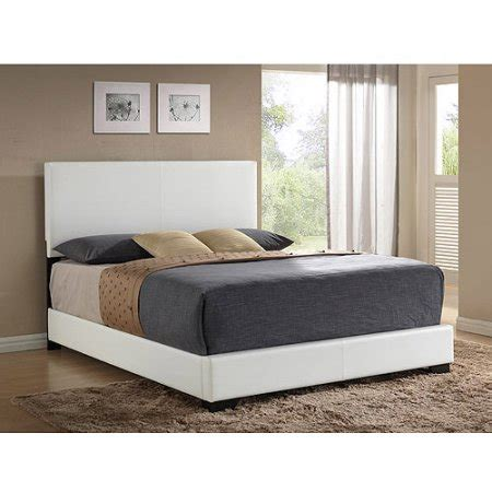 white leather bed ireland queen faux leather bed white walmart com