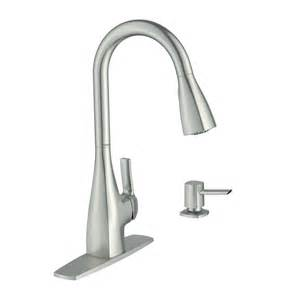 Kitchen Pull Down Faucet Shop Moen Kiran Spot Resist Stainless 1 Handle Pull Down