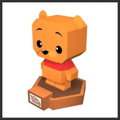 Disney Papercrafts - winnie the pooh papercraftsquare free papercraft