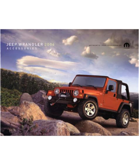 2006 Jeep Grand Accessories 2006 Jeep Wrangler Accessories Sales Brochure
