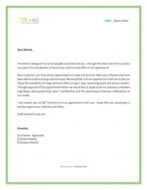 how to write a appointment letter for sle appointment letter exles best free