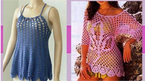 tejidos elegantes de crochet blusas de verano tejidos a crochet lindos modelos viyoutube