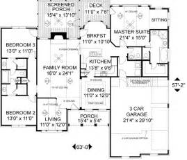 Jack And Jill Bedroom Floor Plans southern style house plan 3 beds 2 5 baths 1992 sq ft
