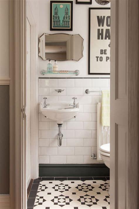vintage black  white bathroom tile ideas  pictures