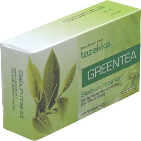 Sabun Herbal Zweena Teh Hijau green tea sabun mandi tazakka mengatasi kulit berminyak dan penuaan