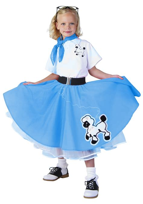 deluxe blue poodle skirt costume