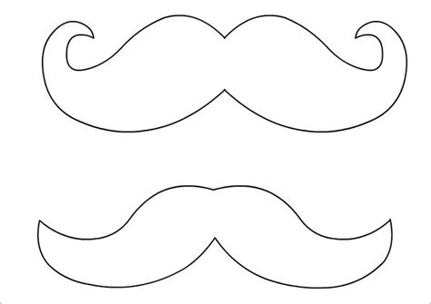 printable mustache templates image gallery mustache template