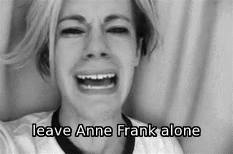 anne frank animated biography black and white animated gif