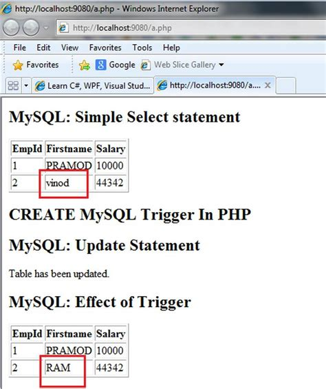 php format date from mysql timest create mysql trigger in php