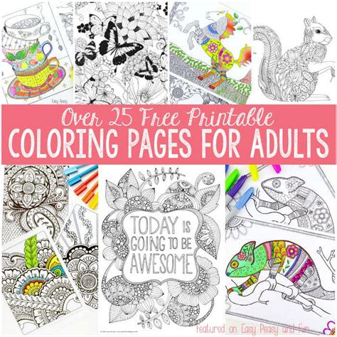 coloring books for adults to print free coloring pages for adults easy peasy and