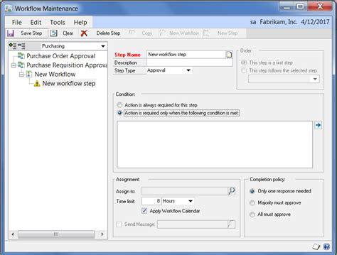 microsoft workflow tutorial microsoft dynamics gp workflow 2 0 configuration tutorial