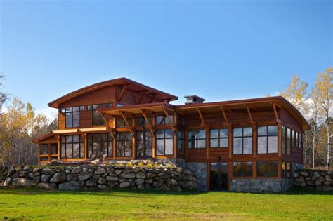 Saranac House saranac lake house rustic exterior new york by