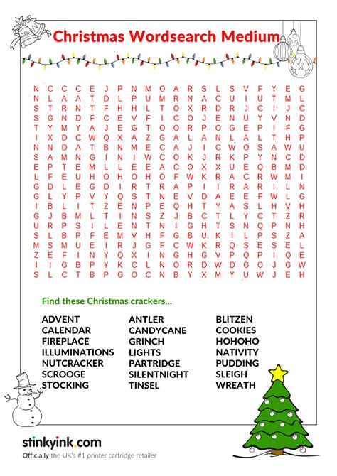 Media Search Printable Wordsearch Medium