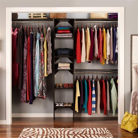 closetmaid suitesymphony   starter kit wood closet