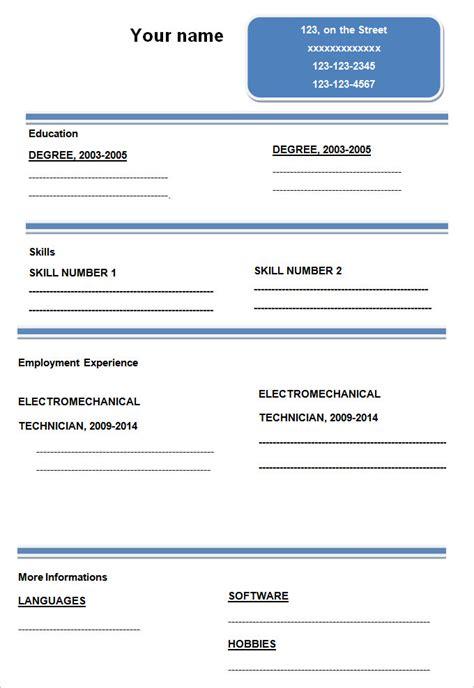 job resume sample pdf free download curriculum vitae template