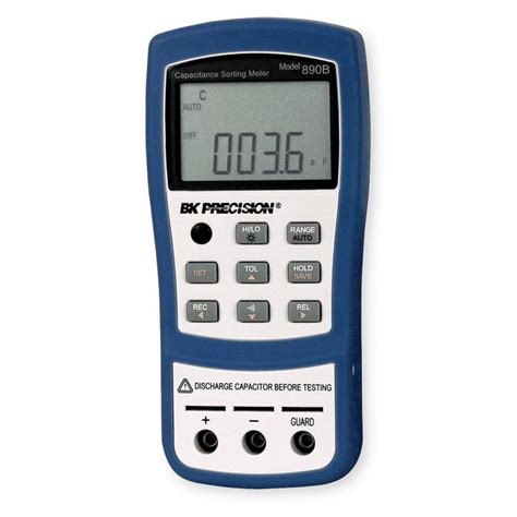 capacitance meter bk precision b k precision autoranging capacitance meter sort based on preset tolerance with test leads from