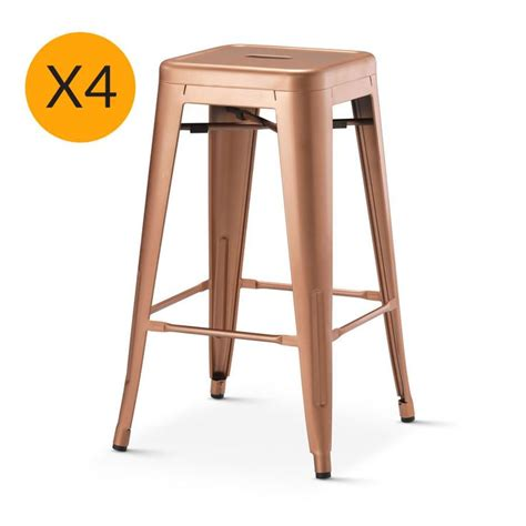 Xavier Pauchard Stool by X4 Replica Xavier Pauchard Stool 65cm New Copper Black Mango Bar Stools