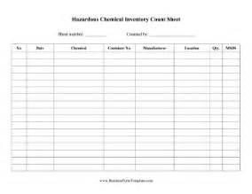 hazardous chemical inventory template