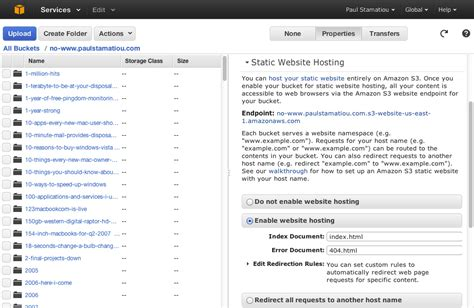 amazon web hosting how to hosting on amazon s3 with cloudfront
