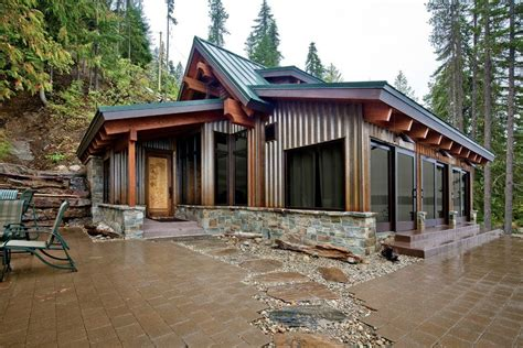 metal building cabin metal building homes patio contemporary with seattle