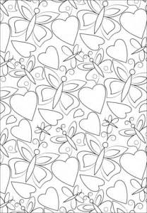 coloring pages of hearts and butterflies hearts and butterflies pattern coloring page free