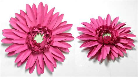 paper daisy flower tutorial gerbera daisy paper flower diy tutorial paper flowers easy