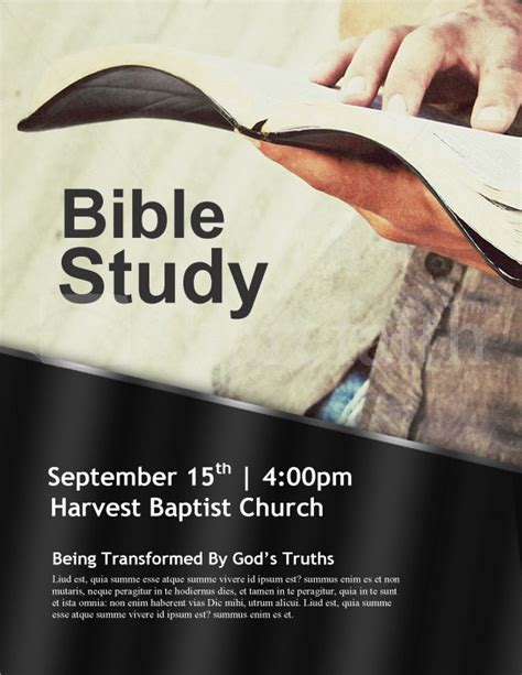bible study flyer template free god s word church flyer template template flyer templates