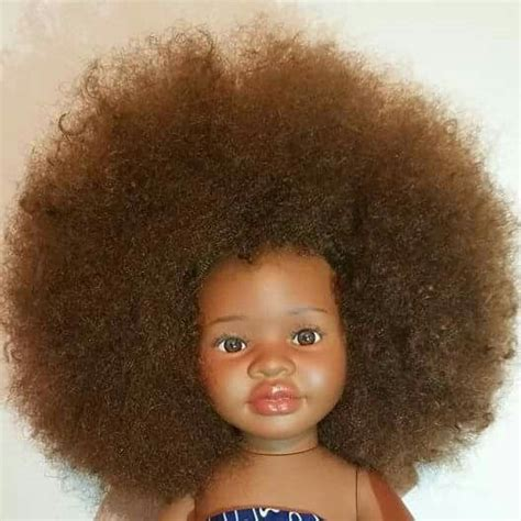 black doll with hair afro hair and dolls on