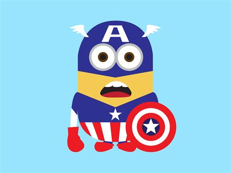 Captain America Minion Wallpaper | a cute collection of despicable me 2 minions wallpapers