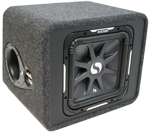 Speaker Subwoofer Kicker car audio single 12 quot kicker solobaric square s12l7 loaded subwoofer sub box enclosure 2
