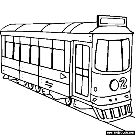 street cars coloring pages train and locomotive online coloring pages page 1