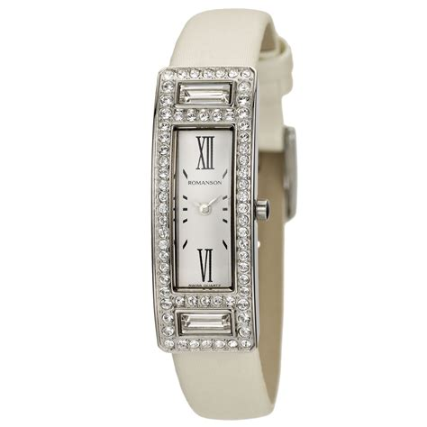 Lu Tl 1 X 36 Watt romanson womens swiss quartz with swarovski elements
