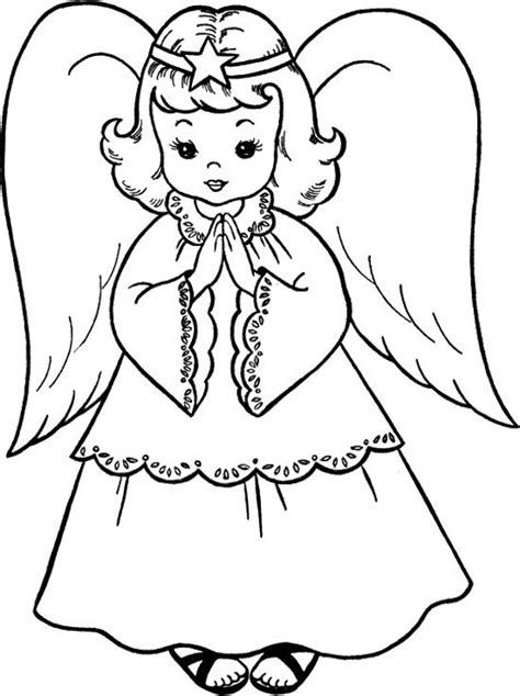 christmas angels coloring page sweet christmas angel coloring page coloring pages