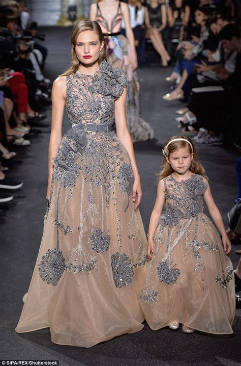 Fashion Friend Couture In The City On Behnaz Sarafpour by Elie Saab Shows Matching Gowns For