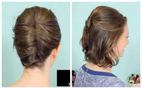 how to do updo hairstyles youtube french twist half updo for short hair youtube