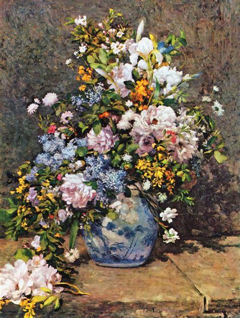 bouquet of flowers by auguste renoir