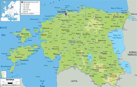 map of estonia the map of estonia