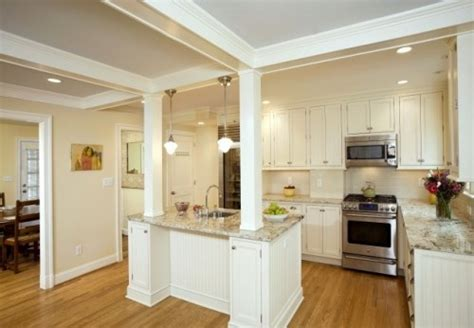 kitchen island with columns load bearing wall dream home columns on kitchen island just in case the wall being