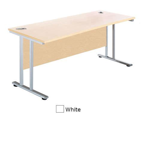 Sunflower Medical White 140cm Wide Rectangular Desk Narrow White Desk
