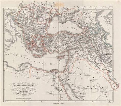 Ottoman Empire 17th Century Das Osmannische Reich Und Dessen Schutz Staaten Nach Seiner Grossten Ausdehnung Im Xviiten