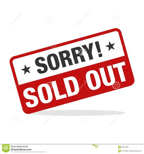 design by humans sold out sold out design concept vector illustration cartoon