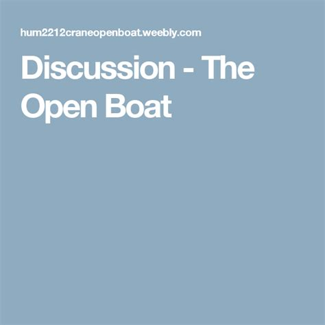 the open boat and other stories sparknotes discussion the open boat igcse 2019 en 2018