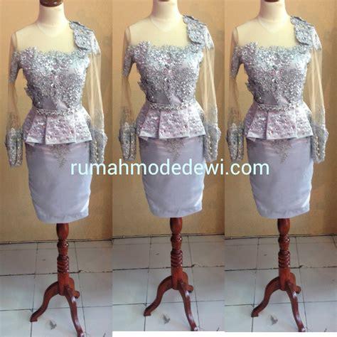 desain dress sepan dress silver asimetris peplum rok sepan