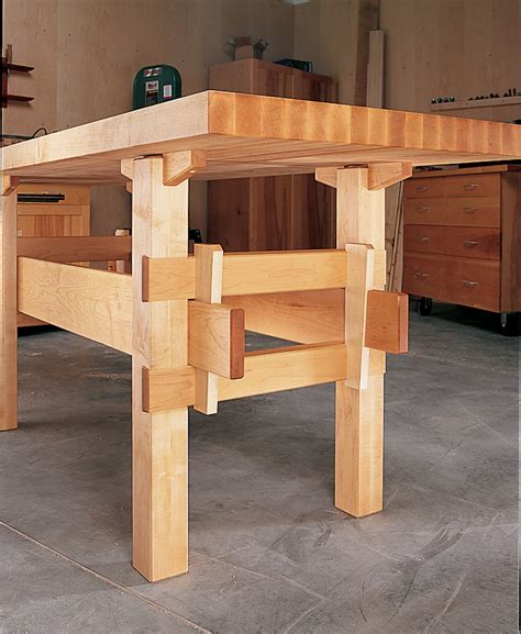 wood work bench plans wedged base workbench wedges joinery and woodworking