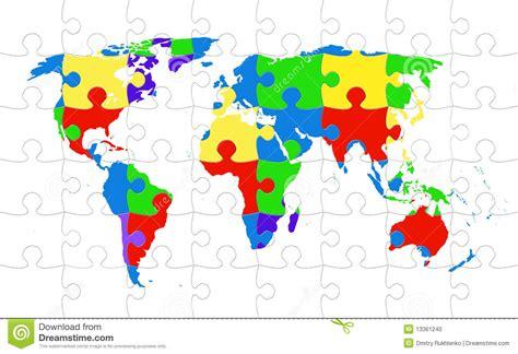 printable world puzzle world map puzzle stock photo image 13361240
