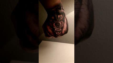 hand tattoo youtube wolf hand tattoo youtube