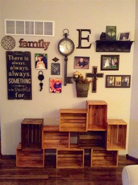 Living Room Wall Decor Shelves Best 25 Wood Crates Ideas On College