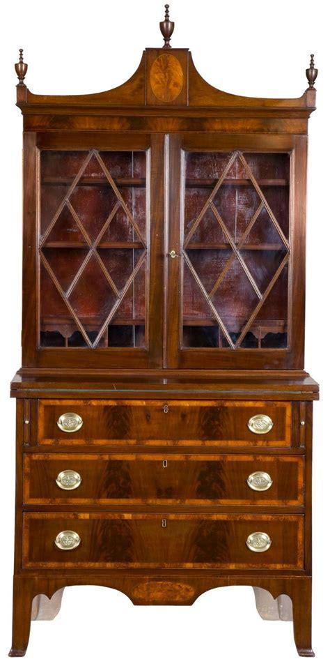 small antique secretary desk small inlaid mahogany federal secretary desk salem circa