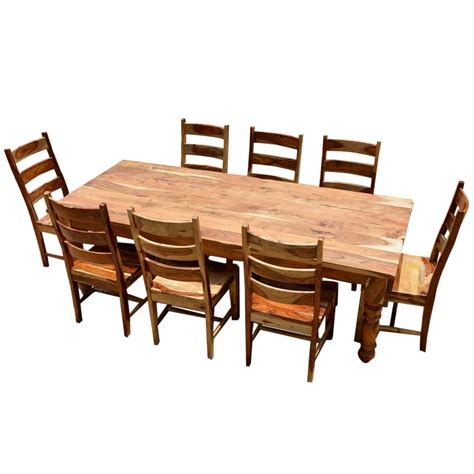 Rustic Dining Room Table Sets by Rustic Solid Wood Farmhouse Dining Room Table Chair Set